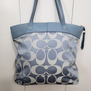 Coach Bags - Coach powder blue shoulder bag purse